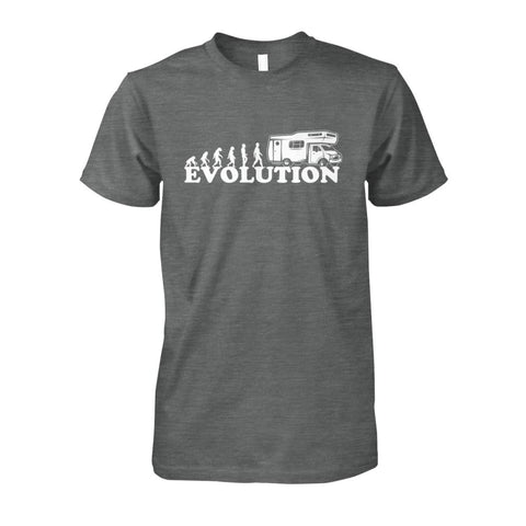 Evolution Camper Tee - Dark Heather / S - Short Sleeves