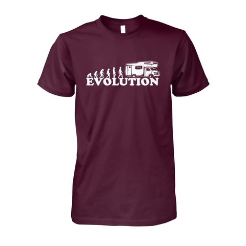 Image of Evolution Camper Tee - Maroon / S - Short Sleeves