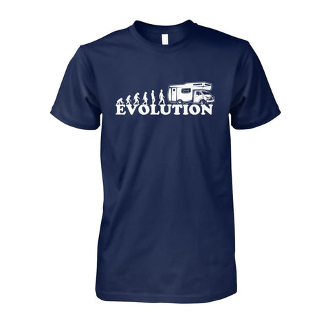 Image of Evolution Camper Tee - Navy / S - Short Sleeves