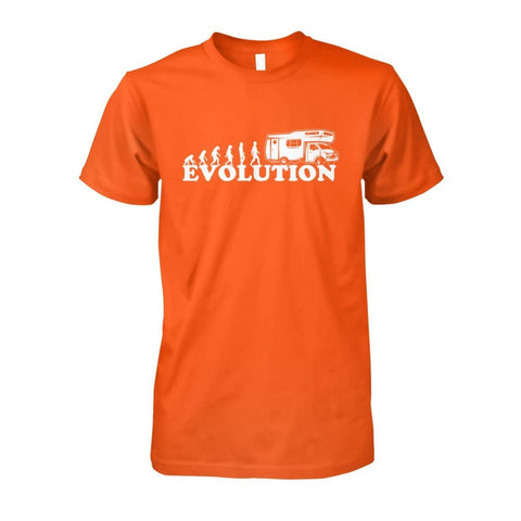 Image of Evolution Camper Tee - Orange / S - Short Sleeves