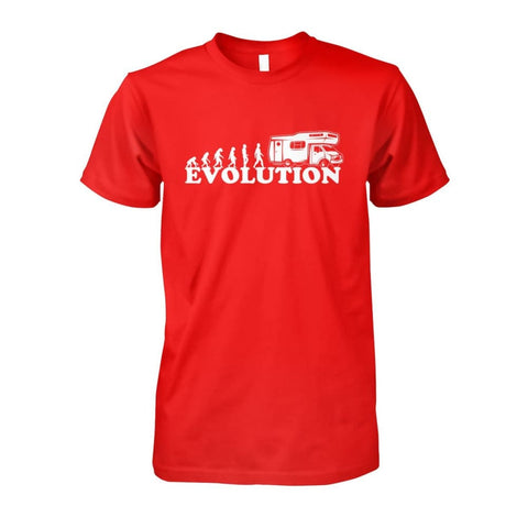 Evolution Camper Tee - Red / S - Short Sleeves