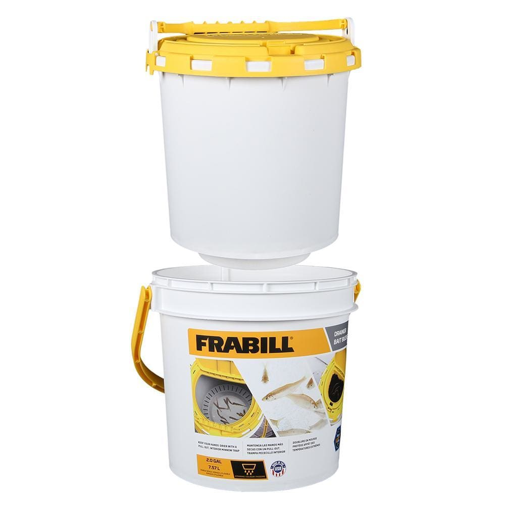 Frabill Drainer Bait Bucket - Outdoor