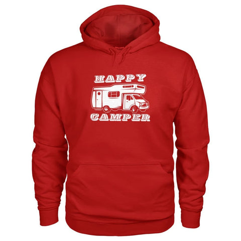 Happy Camper Hoodie - Cherry Red / S - Hoodies