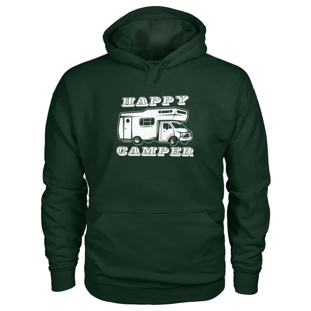 Happy Camper Hoodie - Forest Green / S - Hoodies