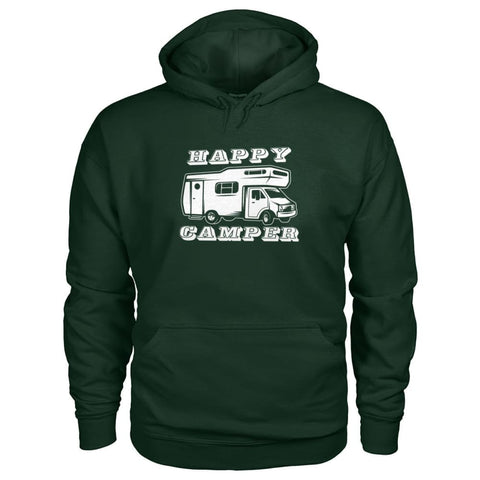 Image of Happy Camper Hoodie - Forest Green / S - Hoodies