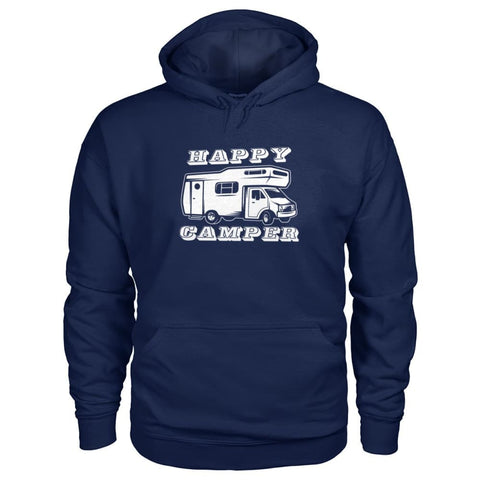 Image of Happy Camper Hoodie - Navy / S - Hoodies