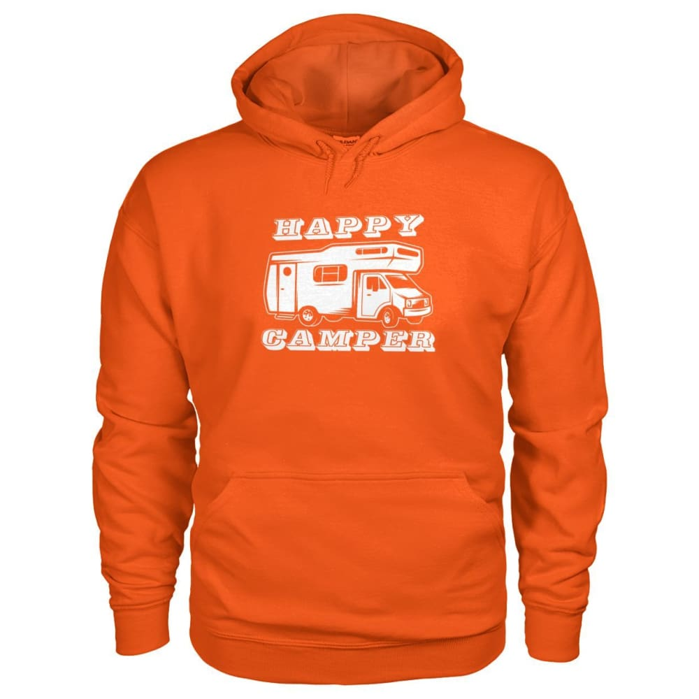 Happy Camper Hoodie - Orange / S - Hoodies