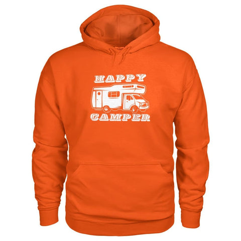 Image of Happy Camper Hoodie - Orange / S - Hoodies
