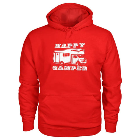 Image of Happy Camper Hoodie - Red / S - Hoodies
