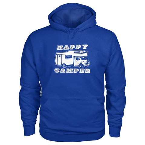 Happy Camper Hoodie - Royal / S - Hoodies