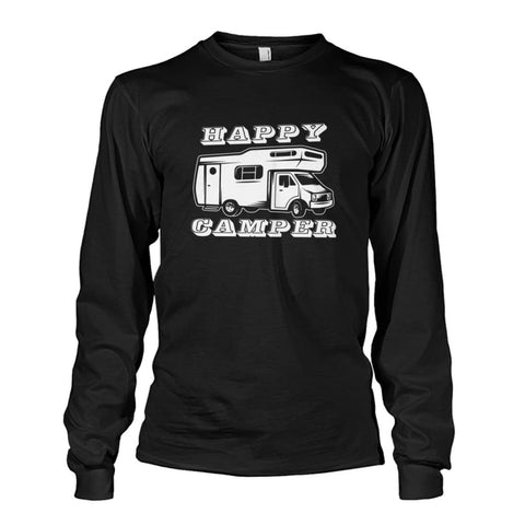 Happy Camper Long Sleeve - Black / S - Long Sleeves