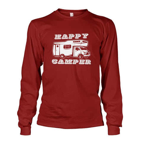 Happy Camper Long Sleeve - Cardinal Red / S - Long Sleeves