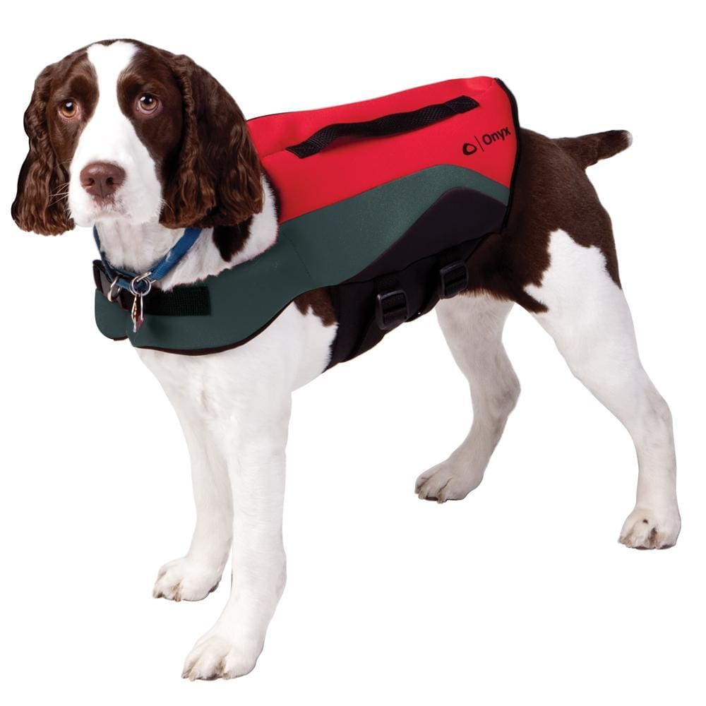 Onyx Neoprene Pet Vest - Small - Red-Grey - Outdoor