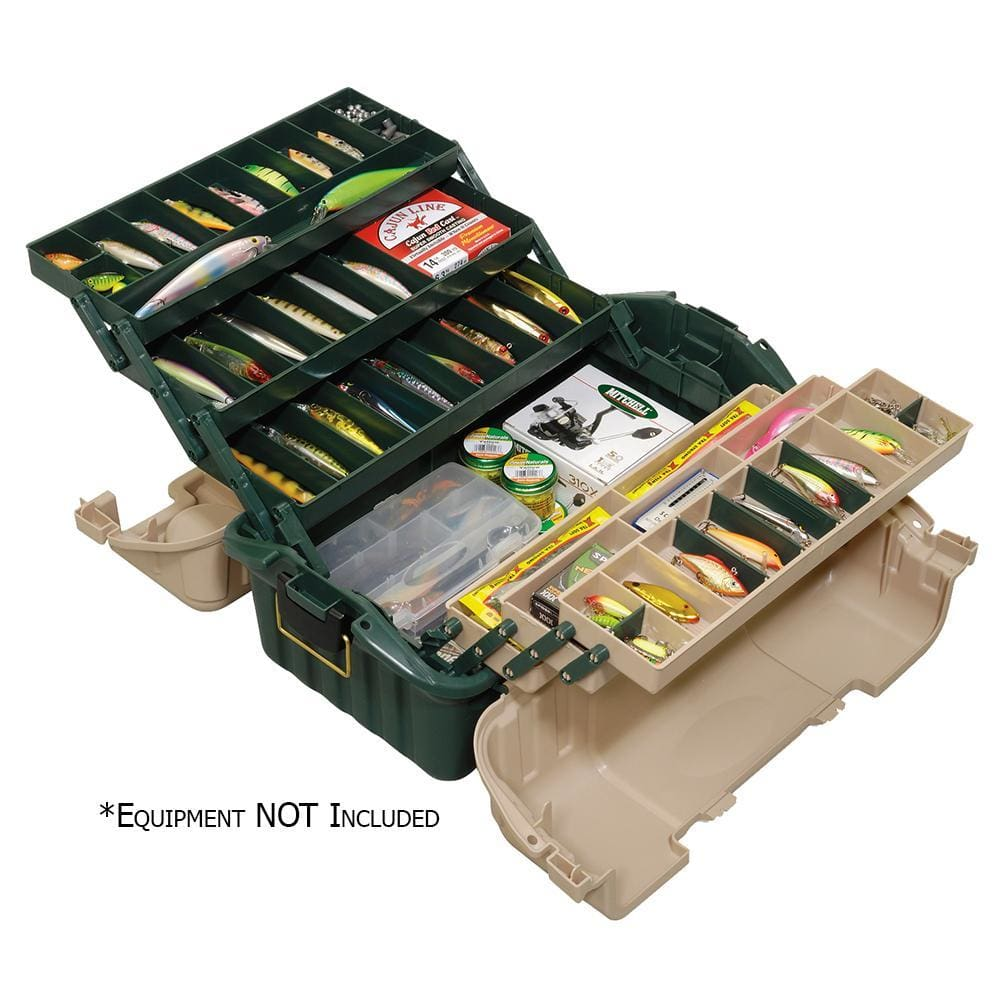 Plano Hip Roof Tackle Box w-6-Trays - Green-Sandstone - Outdoor