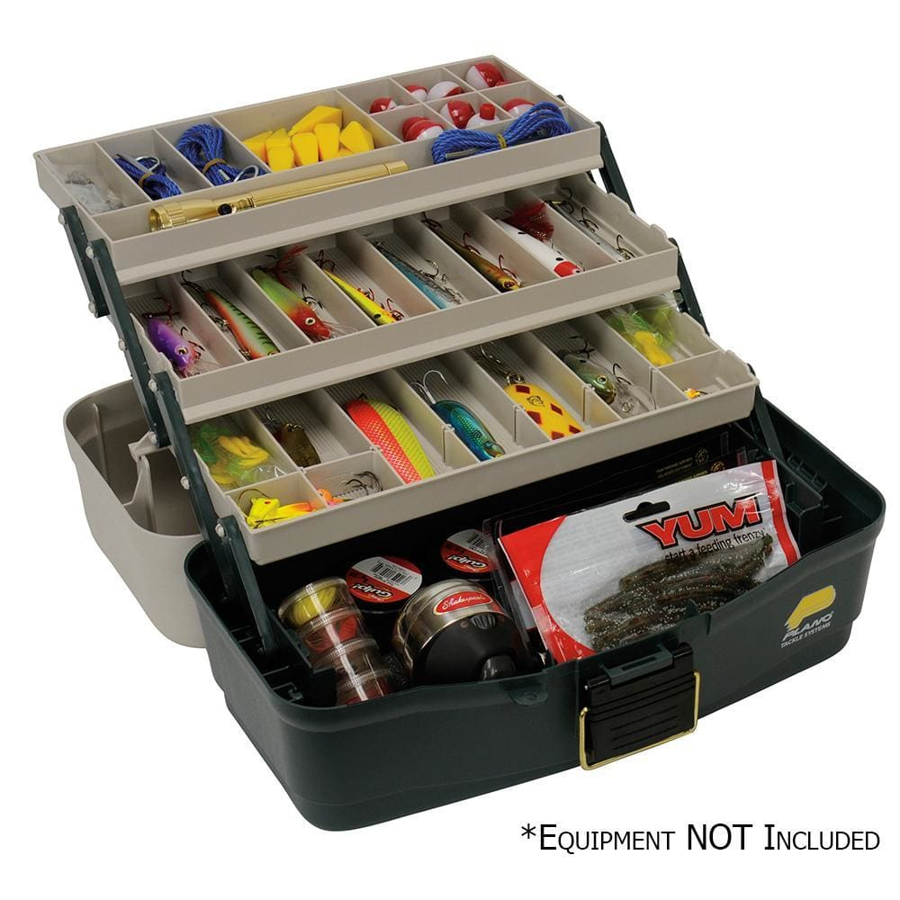 Plano Three-Tray Fixed Compartment Tackle Box - Outdoor