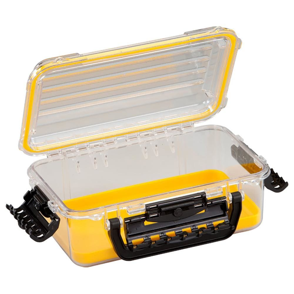 Plano Waterproof Polycarbonate Storage Box - 3600 Size - Yellow-Clear - Outdoor