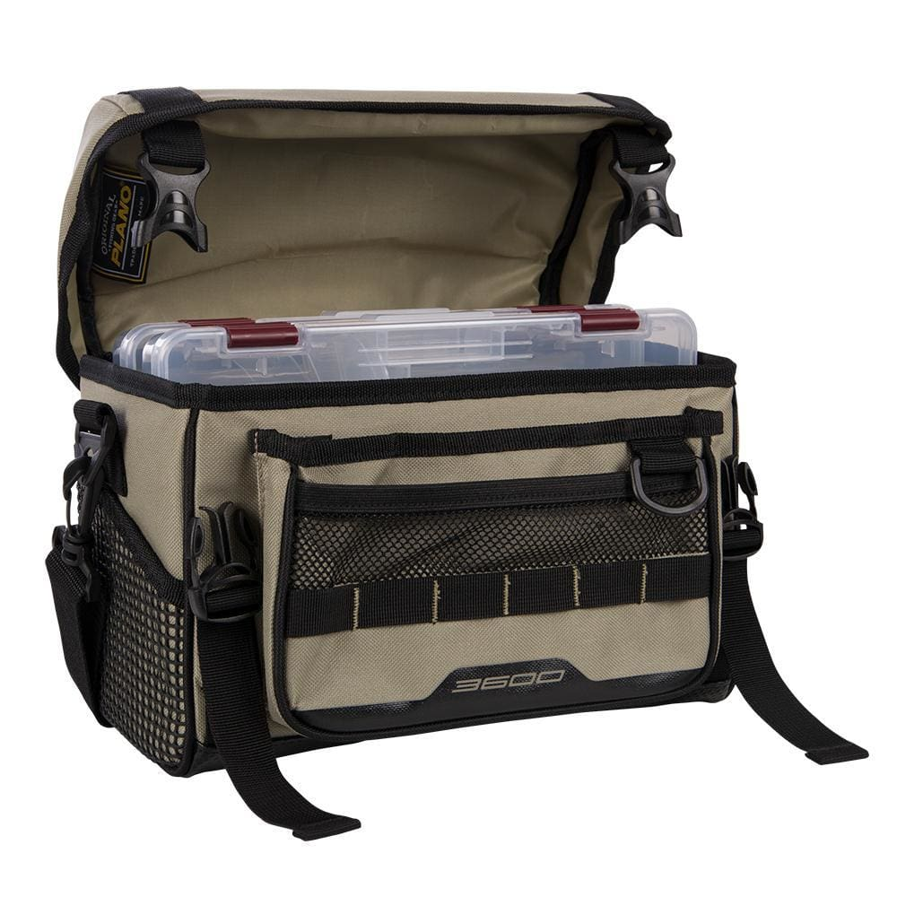 Plano Weekend Series Softsider Tackle Bag - 2-3600 Stowaways Included - Tan - Outdoor