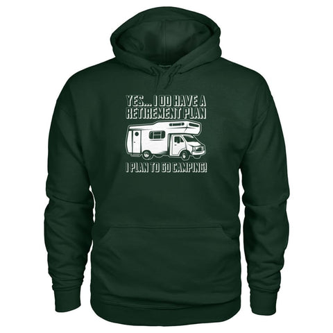Retirement Plan Hoodie - Forest Green / S - Hoodies