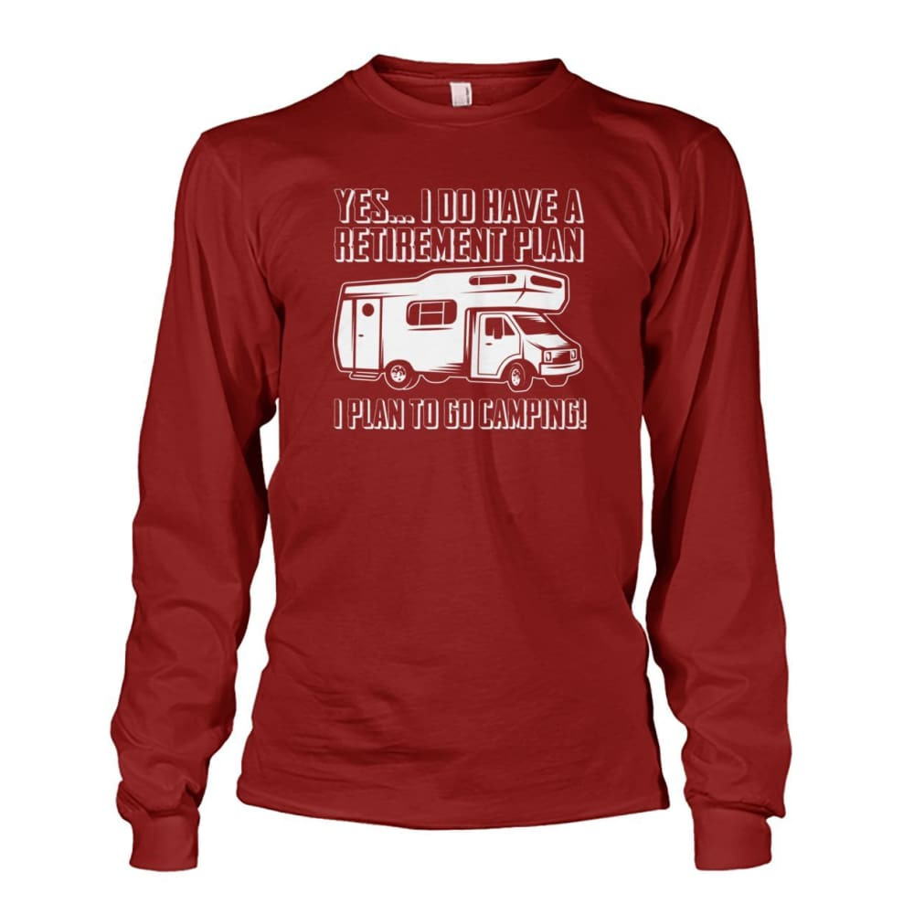 Retirement Plan Long Sleeve - Cardinal Red / S - Long Sleeves
