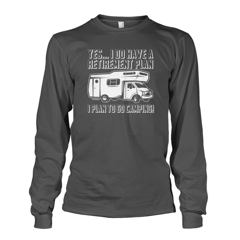 Retirement Plan Long Sleeve - Charcoal / S - Long Sleeves