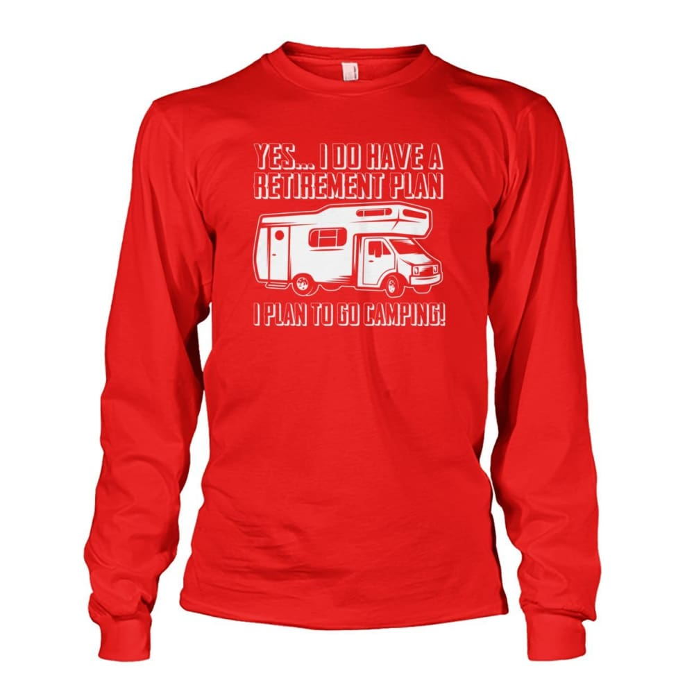 Retirement Plan Long Sleeve - Red / S - Long Sleeves