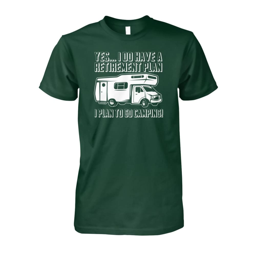 Retirement Plan Tee - Forest Green / S - Short Sleeves