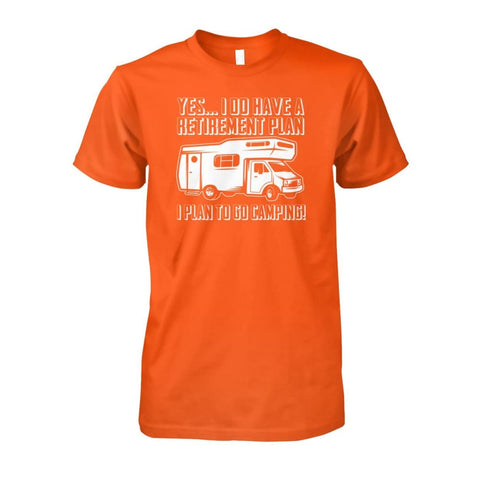 Retirement Plan Tee - Orange / S - Short Sleeves