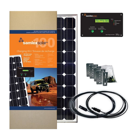 Samlex Solar Charging Kit - 100W - 30A - Automotive/RV