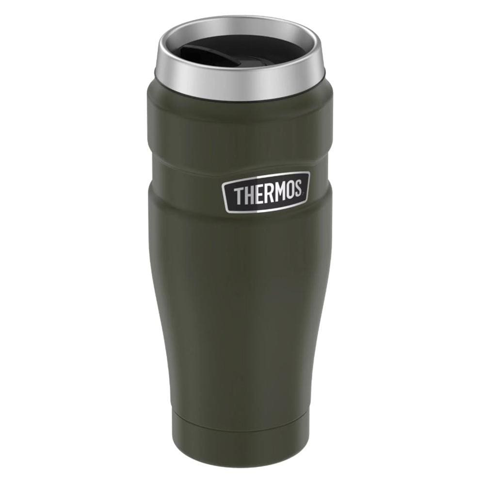 Thermos Stainless King Vacuum Insulated Stainless Steel Travel Tumbler - 16oz - Matte Army Green - Outdoor