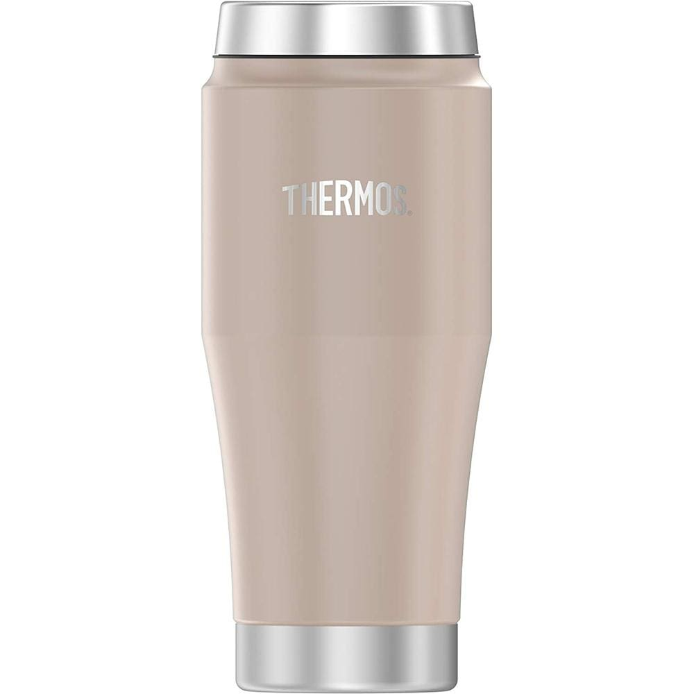 Thermos Vacuum Insulated Stainless Steel Travel Tumbler - 16oz - Matte Stone Gray - Outdoor