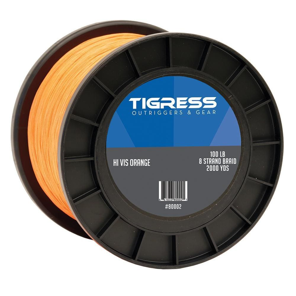 Tigress High-Visibility 100lb Kite Braid - Orange - Outdoor