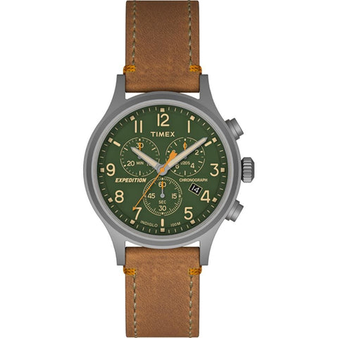 Timex Expedition Scout Chrono Watch - Tan-Green - Outdoor