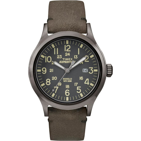 Timex Expedition Scout Metal - Brown Leather-Gray Dial - Outdoor