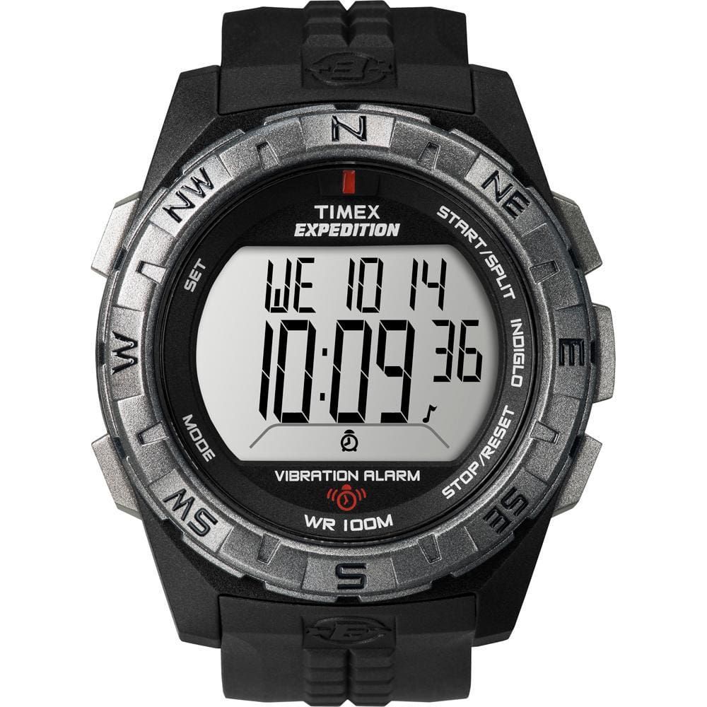 Timex Expedition Vibrate Alert Watch - Full Size - Black - Outdoor