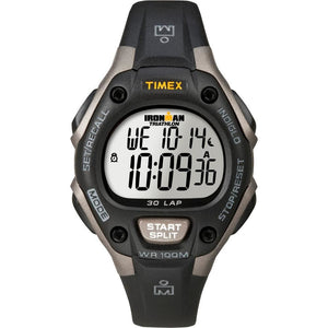 Timex Ironman Triathlon 30 Lap Mid Size Grey-Black - Outdoor