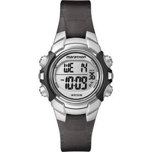 Timex Marathon Digital Mid-Size Watch - Black-Silver - Outdoor