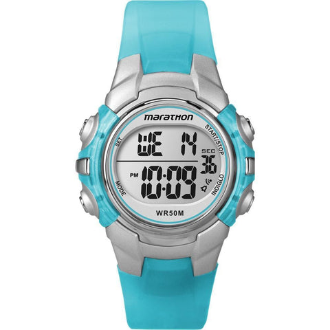 Timex Marathon Digital Mid-Size Watch - Light Blue - Outdoor