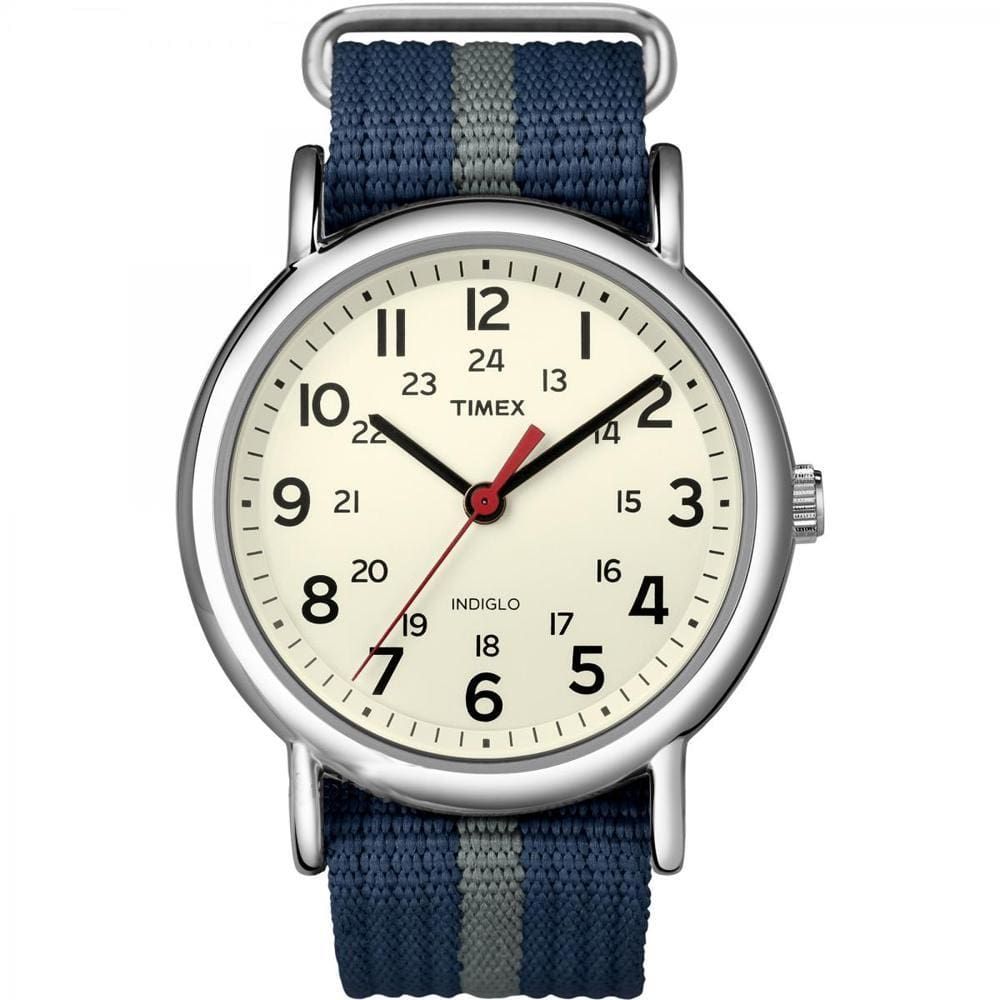 Timex Weekender Slip-Thru Watch - Navy-Gray - Outdoor