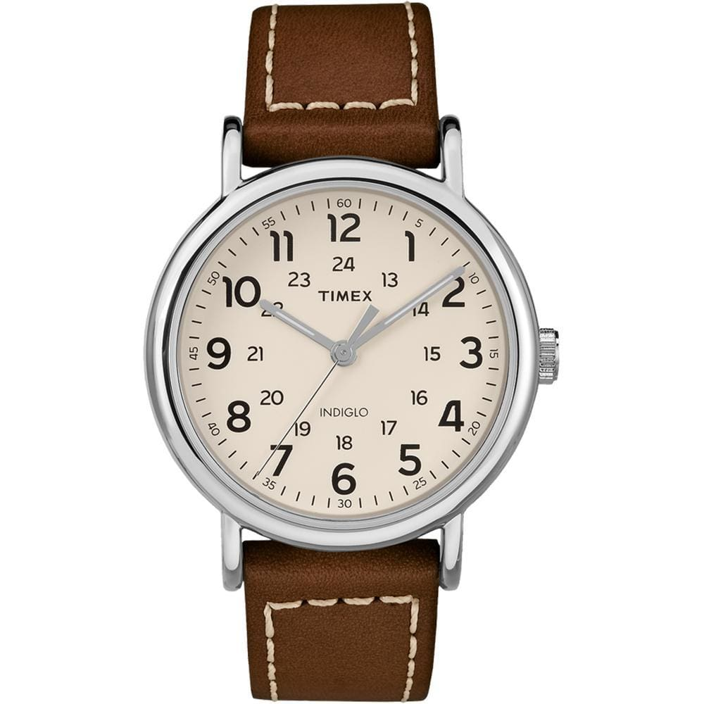 Timex Weekender® 2-Piece Leather Strap Watch - Cream - Outdoor