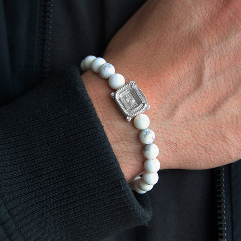 My Arena Santiago Bernabeu 3taDium Classic 08 White Howlite 925 sterling silver