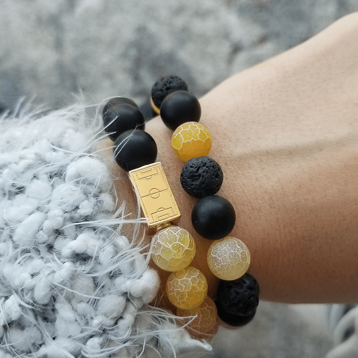 50/50 Black & Yellow Bracelet