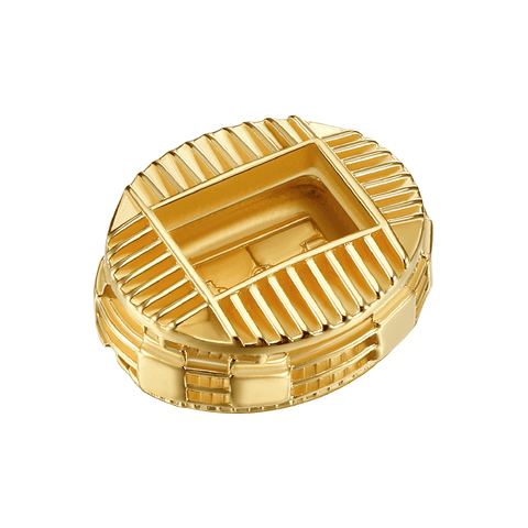 14K Gold Plated 925 Sterling Silver Camp Nou 3taDium