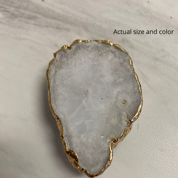 White Druzy Phone Grip 7