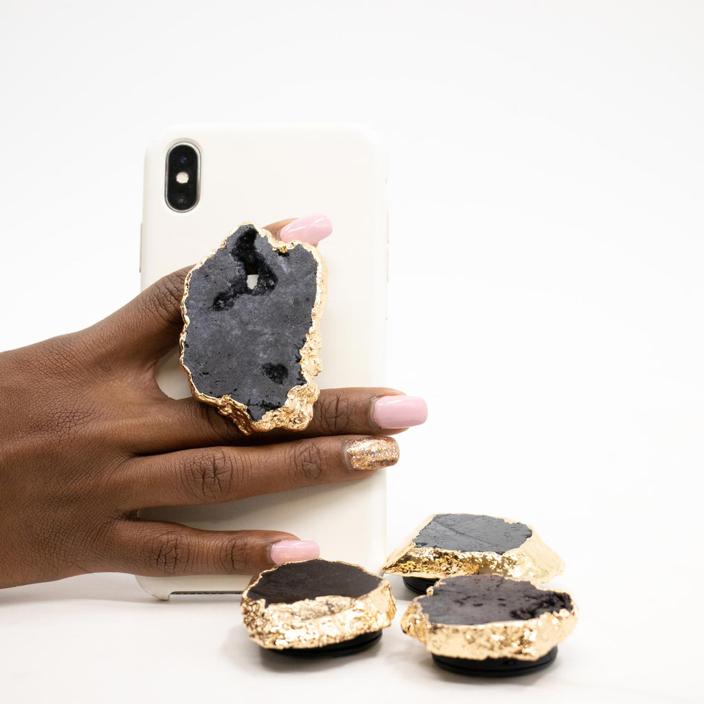 Black Druzy Phone Grip 5