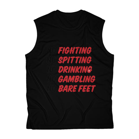 No Fighting Men's Sleeveless Performance Tee