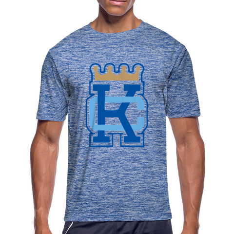 KC Crown Dri-Fit T-Shirt - heather blue