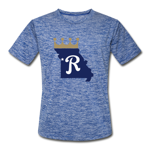 Crown State Dri-Fit T-Shirt - heather blue