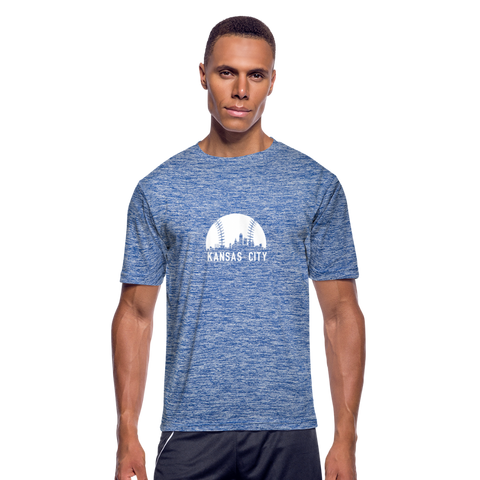 Baseball Town Dri-Fit T-Shirt - heather blue