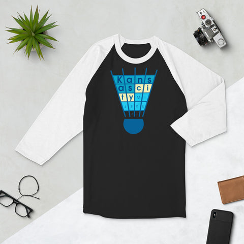 KC Shuttlecocks 3/4 Sleeved Raglan T-Shirt