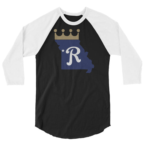 Crown State 3/4 Sleeved Raglan T-Shirt